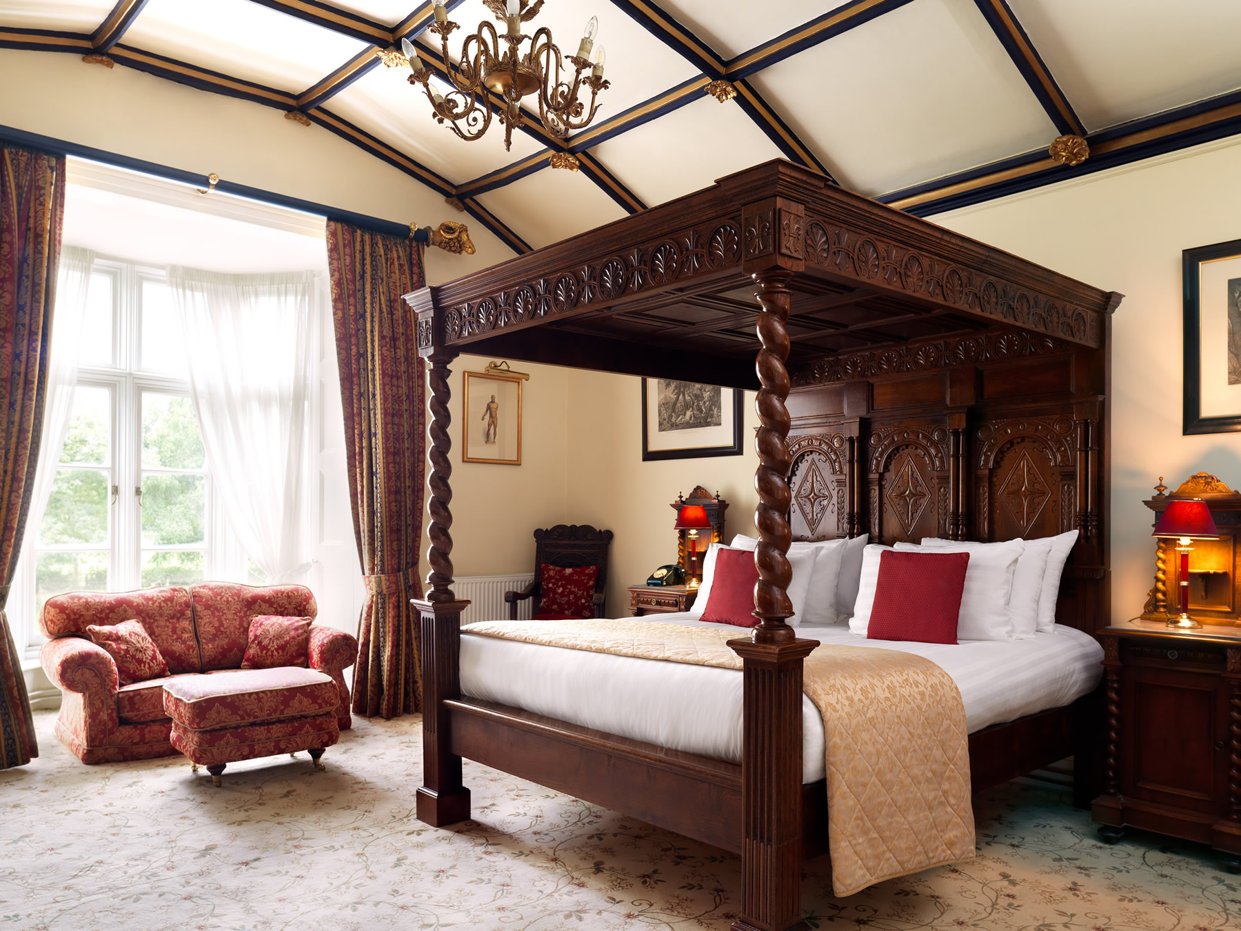 Rooms at The Priory Hotel, Caerleon